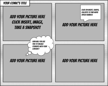 comic strip template google slides  Comic Strip Templates for Google Drawings! – Meredith Akers