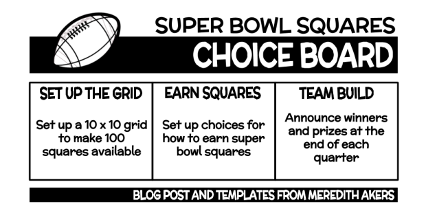 Copy of Super Bowl Squares Choice Board - GRAPHIC