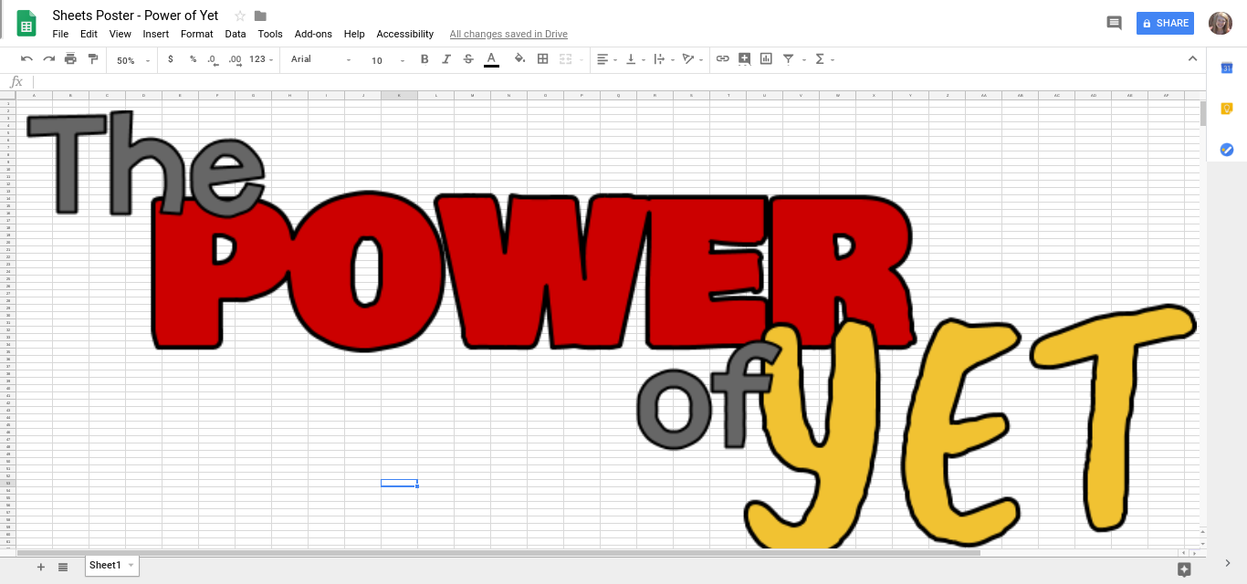 photo about Making a Printable Banner named Google Sheets Poster Printing HACK! Meredith Akers