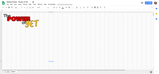 Sheets Poster - Power of Yet - Google Sheets.clipular