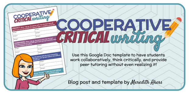 Cooperative Critical Writing Graphic