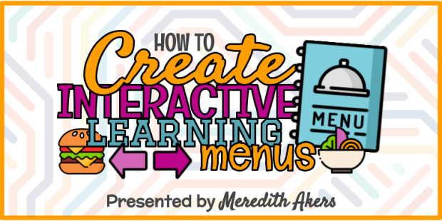 How to Create Interactive Learning Menus - Graphic