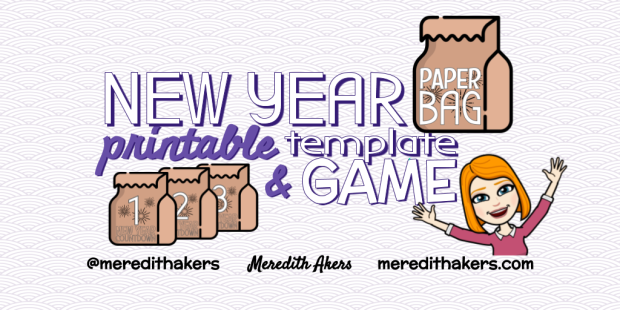 New Year Paper Bag Template